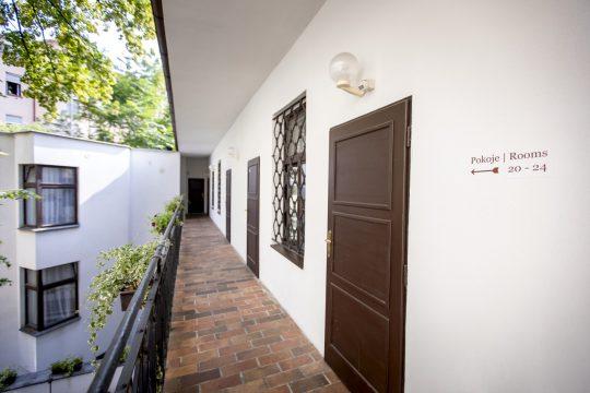 Amadeus Hotel outside corridor