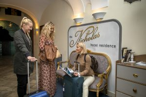 guests at Nicholas Hotel Residence